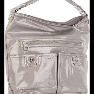 Marc Jacobs patent leather nude taupe shoulder bag